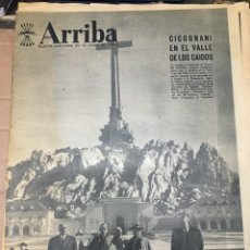 Collectionnisme de Revues et Journaux: ARRIBA (29-1-1964) CICOGNANI VALLE DE LOS CAIDOS ARANJUEZ ACCIDENTE EN LAS MATAS TROFEO MOTO VESPA. Lote 217895401