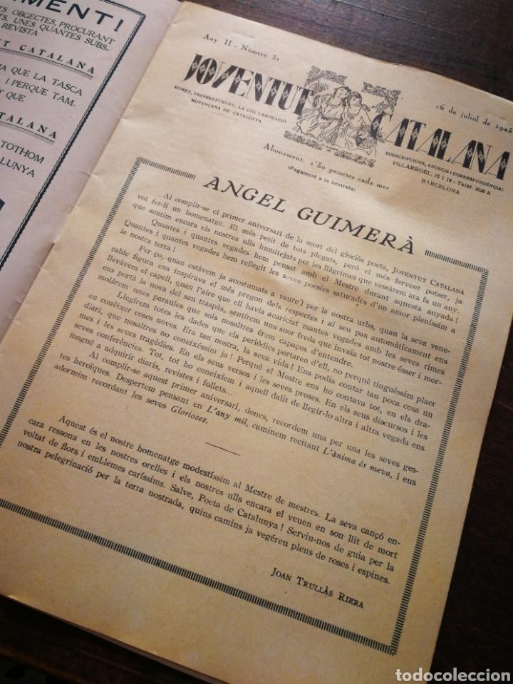 Coleccionismo de Revistas y Periódicos: REVISTA JOVENTUT CATALANA- HOMENATGE A ANGEL GUIMERÀ, ANY II, N°31.(BARCELONA) 1925. - Foto 2 - 217898158