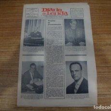 Coleccionismo de Revistas y Periódicos: MUY DIFICIL PERIODICO DIARIO DE LERIDA Nº 0 DOMINGO 15 MAYO 1966 PUBLICIDAD EPOCA ORIGINAL VER FOTOS. Lote 218063283