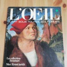 Coleccionismo de Revistas y Periódicos: L'OEIL. REVUE D'ART Nº 238 (MAI 1975). Lote 218151282