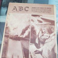 Collezionismo di Riviste e Giornali: ANTIGUO PERIODICO ABC FRANCO EN CARTAGENA Y MURCIA 1963. Lote 218184212