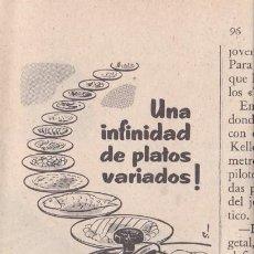 Coleccionismo de Revistas y Periódicos: PUBLICIDAD T 1958. ANUNCIO SUPER OLLA A PRESION HISPANO SUIZA. Lote 218188908