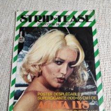 Coleccionismo de Revistas y Periódicos: STRIP TEASE Nº 1. COLECCION DE POSTERS. POSTER DESPLEGABLE 100 X 65 DE AGATA LYS. Lote 218221950