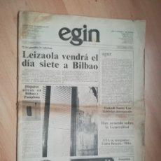 Coleccionismo de Revistas y Periódicos: PERIÓDICO EGIN AÑO 1 NÚMERO 1.. Lote 218226118