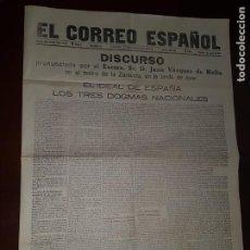 Coleccionismo de Revistas y Periódicos: PERIÓDICO EL CORREO ESPAÑOL - 1 DE JUNIO DE 1915. Lote 218275976