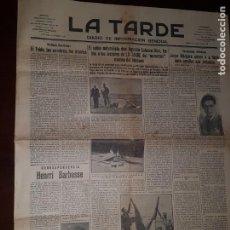 Coleccionismo de Revistas y Periódicos: PERIÓDICO LA TARDE - SANTA CRUZ DE TENERIFE - 6 DE SEPTIEMBRE DE 1935. Lote 218282852