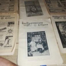 Coleccionismo de Revistas y Periódicos: REVISTA DE ILUSTRACIÓN ARTÍSTICA DE FINALES DEL 1800....SON 5 EJEMPLARES. Lote 218293681