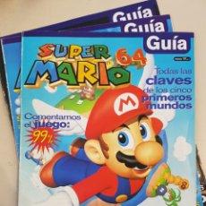 Coleccionismo de Revistas y Periódicos: GUÍA SUPER MARIO 64 Nº 1 2 3 - COMPLETA - NINTENDO ACCIÓN - 1997 - MUNDOS TRUCOS ESTRELLAS ETC. Lote 218312280