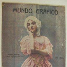 Colecionismo de Revistas e Jornais: MUNDO GRAFICO REVISTA POPULAR ILUSTRADA, Nº 255, SEPTIEMBRE 1916, MARIA ESPARZA, BAILARINA. Lote 218420147