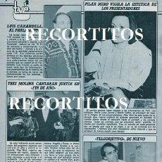 Coleccionismo de Revistas y Periódicos: SCANS ANTONIO MOLINA ANGELA PAULA PILAR MIRO LUIS CARANDELL. Lote 243650680