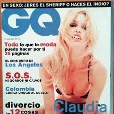 Coleccionismo de Revistas y Periódicos: REVISTA GQ CLAUDIA SCHIFFER. Lote 218441758