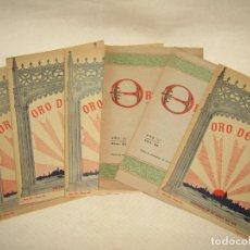 Coleccionismo de Revistas y Periódicos: ANTIGUO LOTE DE 6 ORO DE LEY - REVISTA SEMANAL ILUSTRADA EN VALENCIA DEL AÑO 1918. Lote 218478285