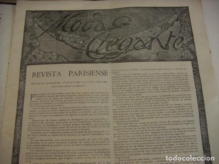Coleccionismo de Revistas y Periódicos: REVISTA PARISIENSE. LA MODA ELEGANTE.Nº 7. 1924. DIRECTOR N. NAVASCUES. CONTIENE PATRONES - Foto 2 - 218485281