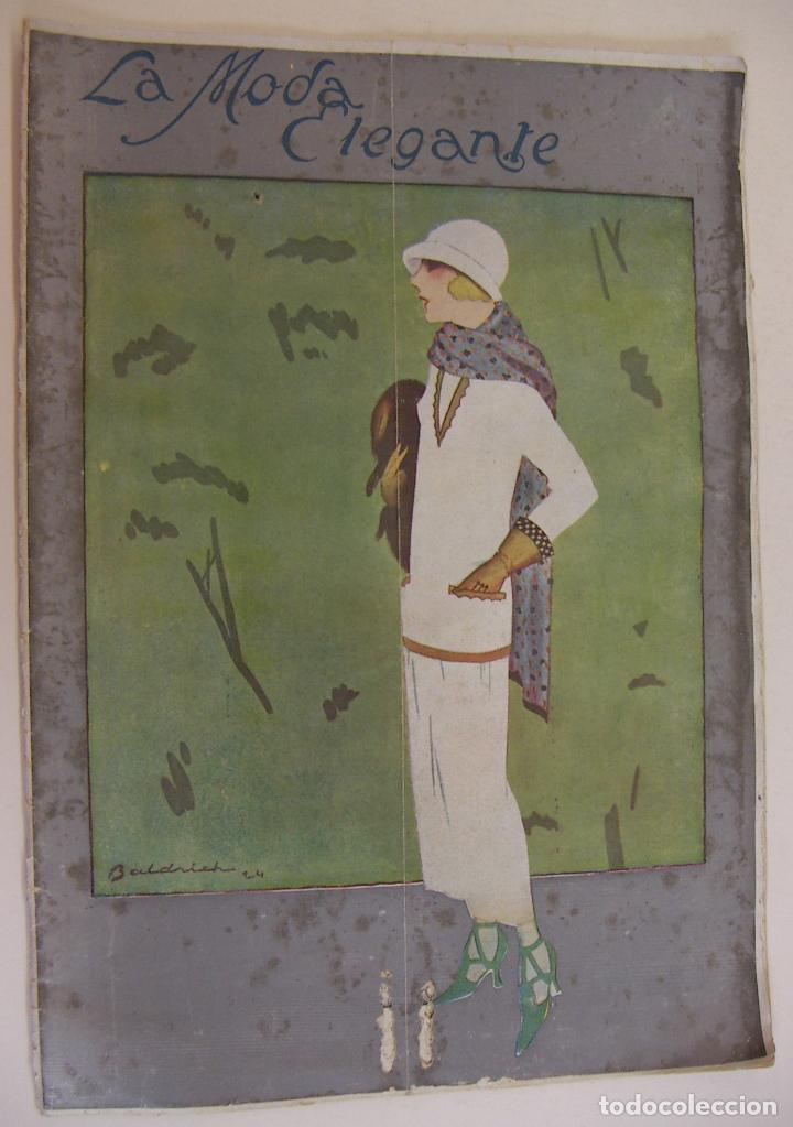 REVISTA PARISIENSE. LA MODA ELEGANTE.Nº 7. 1924. DIRECTOR N. NAVASCUES. CONTIENE PATRONES (Coleccionismo - Revistas y Periódicos Antiguos (hasta 1.939))