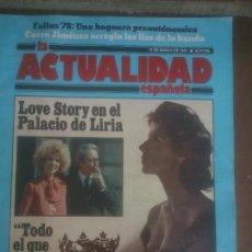 Coleccionismo de Revistas y Periódicos: REVISTA LA ACTUALIDAD ESPAÑOLA.PALACIO DE LIRIA.1978.. Lote 218522616
