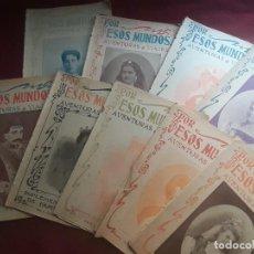 Coleccionismo de Revistas y Periódicos: POR ESOS MUNDOS. LOTE DE 9 NÚMEROS. REVISTA ILUSTRADA DE VIAJES. 1900. Lote 218528227