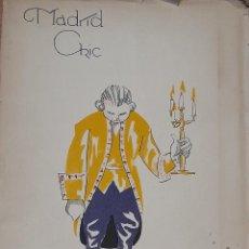 Colecionismo de Revistas e Jornais: MADRID CHIC (ÁLBUM DE CARICATURAS DE TOMÁS PELLICER). 1924. Lote 218574547