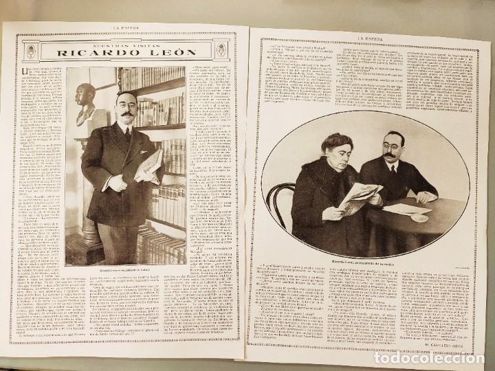 ENTREVISTA REVISTA ORIGINAL CIRCA 1914. JACINTO OCTAVIO PICON (Coleccionismo - Revistas y Periódicos Antiguos (hasta 1.939))
