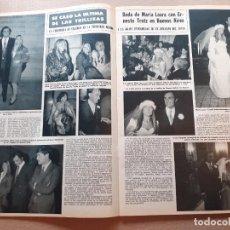 Coleccionismo de Revistas y Periódicos: JULIO IGLESIAS LAS TRILLIZAS MARIA LAURA. Lote 218600995