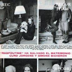 Coleccionismo de Revistas y Periódicos: SCANS CURD JURGENS SIMONE BICHERON. Lote 218641900