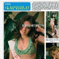 Coleccionismo de Revistas y Periódicos: SCANS AMPARO MUÑOZ MISS ESPAÑA MISS UNIVERSO MISS EUROPE TANINA DI GRADO GROOT ANK VANA PAPADACK. Lote 218645290