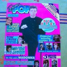 Collectionnisme de Revues et Journaux: SUPER POP / RICK ASTLEY, MECANO, GLENN MEDEIROS, KIRK CAMERON, ROB LOWE, LORENZO LAMAS. Lote 218699953