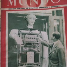 Coleccionismo de Revistas y Periódicos: REVISTA EL MUNDO DE 21 DE SEPTIEMBRE DE 1952. Lote 218766943