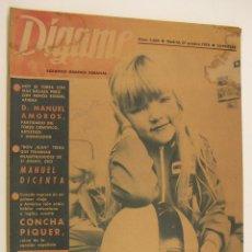 Coleccionismo de Revistas y Periódicos: REVISTA DIGAME Nº 1608 ,27 OCTUBRE 1970 CONCHA PIQUER,MANUEL DICENTA,MANUEL AMOROS. Lote 218774422