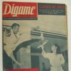 Coleccionismo de Revistas y Periódicos: REVISTA DIGAME Nº 1581 21 ABRIL 1970 CLASES DE JUDO,SASTRAS DE TOREROS,CARLOS LARRAÑAGA. Lote 218817526