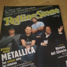 Coleccionismo de Revistas y Periódicos: REVISTA ROLLING STONE HÉROES DEL SILENCIO METALLICA ALASKA FANGORIA. Lote 218870168