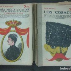 Coleccionismo de Revistas y Periódicos: LOTE DE 37 EJEMPLARES DE LA REVISTA NOVELA LITERARIA NOVELAS Y CUENTOS. Lote 218920176