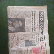 Coleccionismo de Revistas y Periódicos: REVISTA LOS DEPORTES EN LEVANTE. Lote 219176711