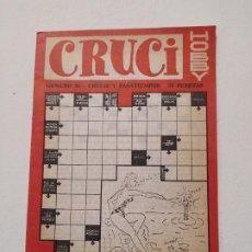 Coleccionismo de Revistas y Periódicos: CRUCI HOBBY. Nº 56. CRUCIS Y PASATIEMPOS. TDKP16. Lote 219176772