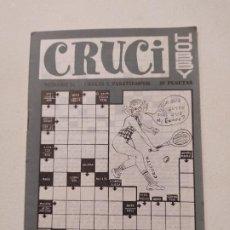 Coleccionismo de Revistas y Periódicos: CRUCI HOBBY. Nº 31. CRUCIS Y PASATIEMPOS. TDKP16. Lote 219177000
