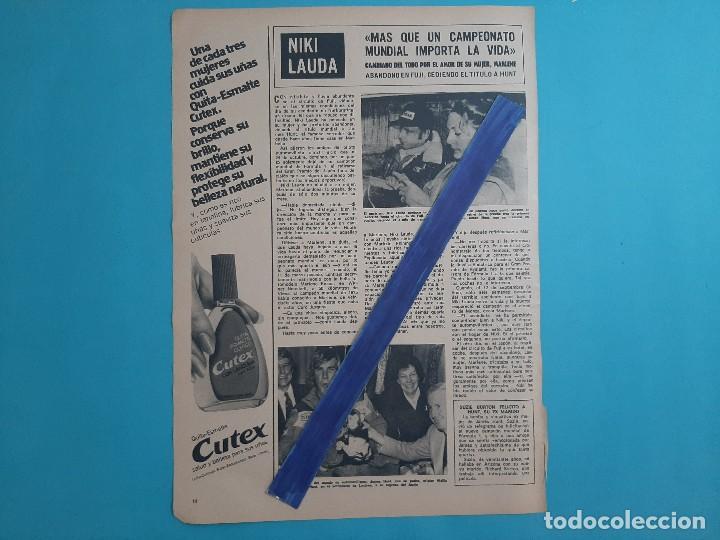 NIKI LAUDA - ENTREVISTA -1 PAG -.AÑO 1976 -RECORTE REVISTA (Coleccionismo - Revistas y Periódicos Modernos (a partir de 1.940) - Otros)