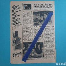 Coleccionismo de Revistas y Periódicos: NIKI LAUDA - ENTREVISTA -1 PAG -.AÑO 1976 -RECORTE REVISTA. Lote 219276868