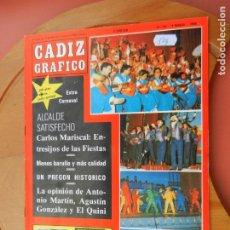 Coleccionismo de Revistas y Periódicos: CÁDIZ GRÁFICO Nº 169 - MARZO 1988.. Lote 219277066