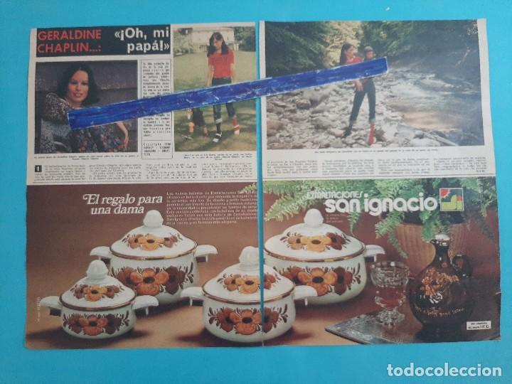 GERALDINE CHAPLIN - 3 PAG -.AÑO 1976 -RECORTE REVISTA (Coleccionismo - Revistas y Periódicos Modernos (a partir de 1.940) - Otros)