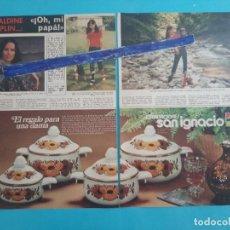 Coleccionismo de Revistas y Periódicos: GERALDINE CHAPLIN - 3 PAG -.AÑO 1976 -RECORTE REVISTA. Lote 219278546