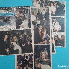 Coleccionismo de Revistas y Periódicos: BAUTIZO HIJO MARIOLA -JAIME ARDID MARTINEZ BORDIU- 7 PAG -.AÑO 1976 -RECORTE REVISTA. Lote 219279211