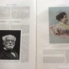 Coleccionismo de Revistas y Periódicos: ÁLBUM SALÓN. CON LITOGRAFÍAS DE LA ÉPOCA. AÑO 190?. Lote 219304593