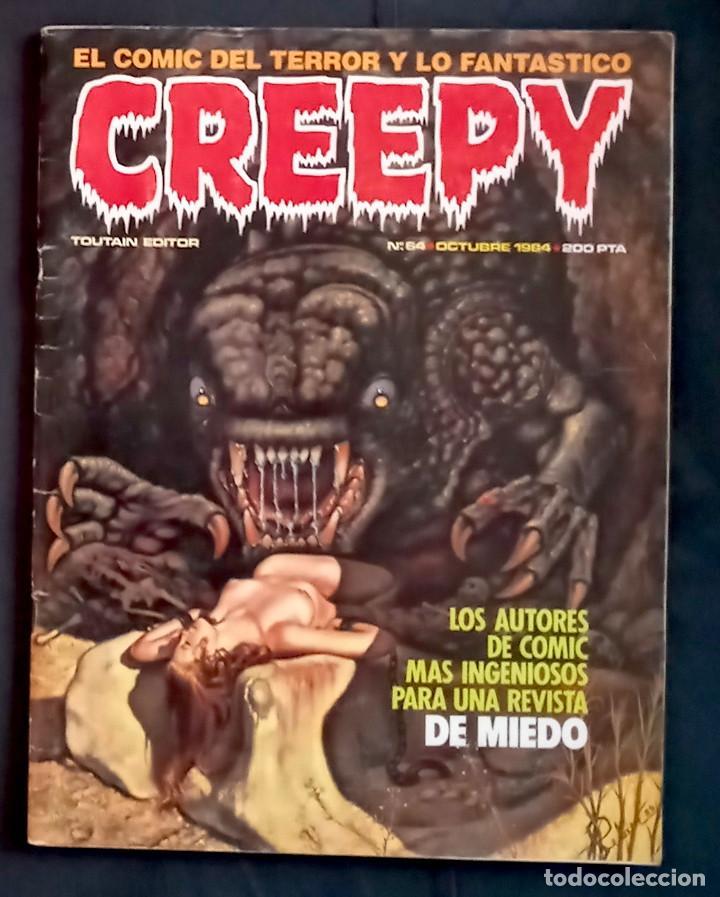 CREEPY 64 - 1984 ED TOUTAIN - GRAPA (Coleccionismo - Revistas y Periódicos Modernos (a partir de 1.940) - Otros)