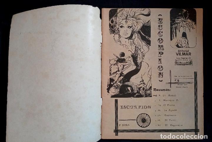 Coleccionismo de Revistas y Periódicos: ESCORPIÓN 6 - ED VILMAR 1973 - Foto 3 - 219316016
