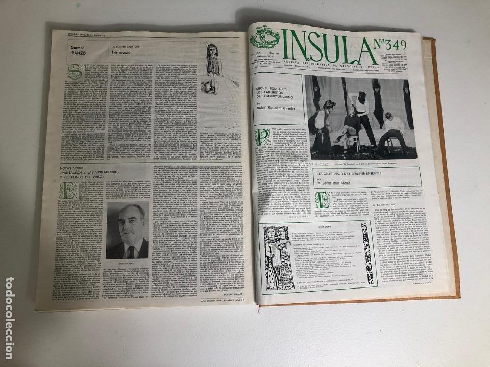 REVISTA INSULA BIBLIOGRÁFICA DE CIENCIA Y LETRAS - 36 TOMOS ENCUADERNADOS - DEL 1964 AL 1975 (Coleccionismo - Revistas y Periódicos Modernos (a partir de 1.940) - Otros)