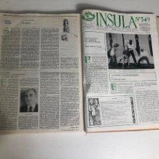 Coleccionismo de Revistas y Periódicos: REVISTA INSULA BIBLIOGRÁFICA DE CIENCIA Y LETRAS - 36 TOMOS ENCUADERNADOS - DEL 1964 AL 1975. Lote 219349548