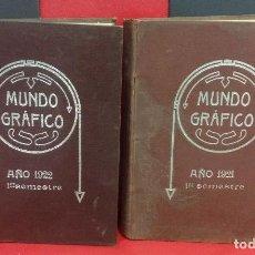 Coleccionismo de Revistas y Periódicos: LOTE DE 50 REVISTAS MUNDO GRAFICO, ENCUADERNADAS EN DOS TOMOS, AÑOS 1921-1922. Lote 219362353