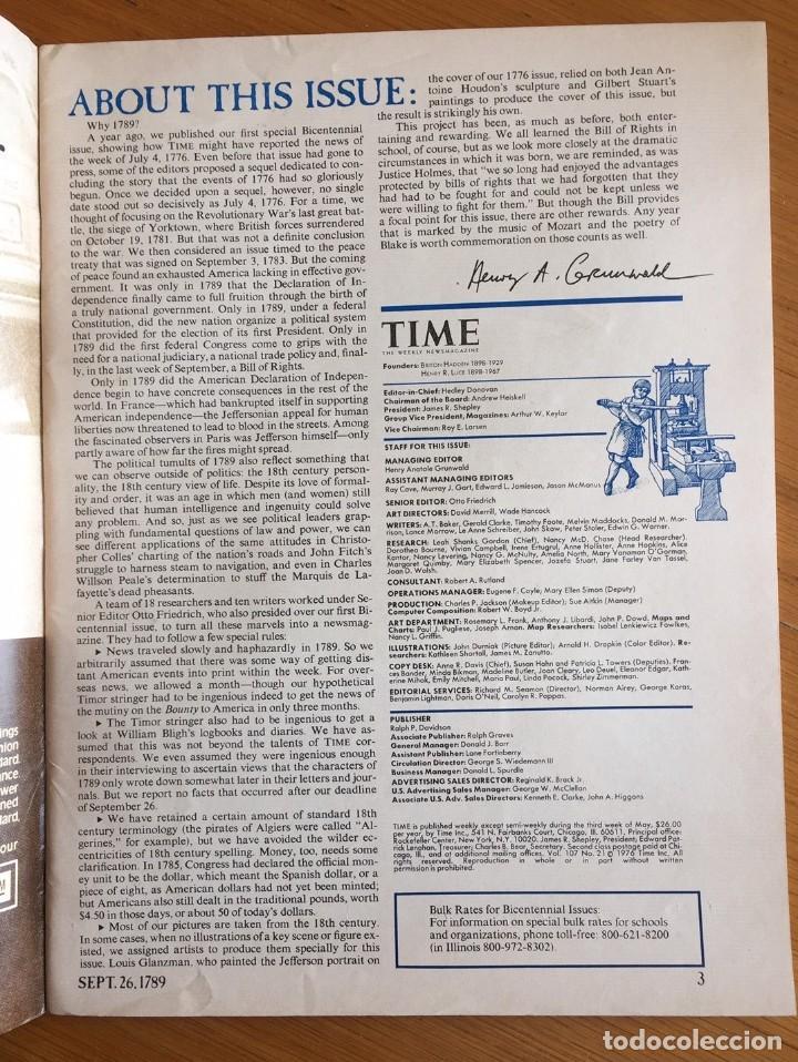 Coleccionismo de Revistas y Periódicos: Estados Unidos Bicentenario - Time Bicentennial Issue - Foto 2 - 219380497