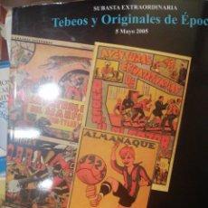 Coleccionismo de Revistas y Periódicos: TEBEOS Y ORIGINALES DE ÉPOCA SUBASTA SOLER Y LLACH. Lote 219592220