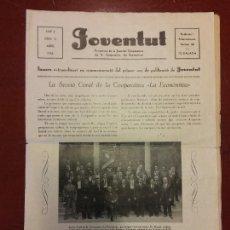 Coleccionismo de Revistas y Periódicos: JOVENTUT. ABRIL 1935. LA SECCIÓ CORAL DE LA COOPERATIVA LA ECONÓMIA. Lote 219815518