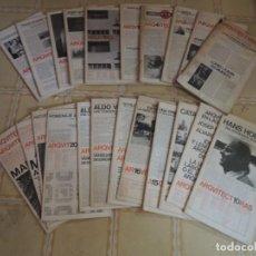 Coleccionismo de Revistas y Periódicos: LOTE DE REVISTAS ARQUITECTURA BIS - NUMEROS DEL 1 AL 24. Lote 219840551